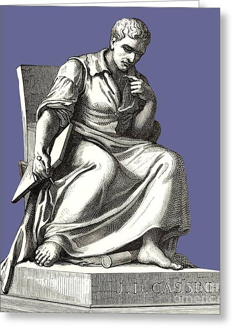 Statue Portrait Greeting Cards - Giovanni Cassini, Italian Astronomer Greeting Card by Sheila Terry