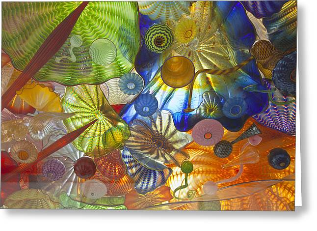 Art Blown Glass Greeting Cards - Glass Art. Greeting Card by Gino Rigucci
