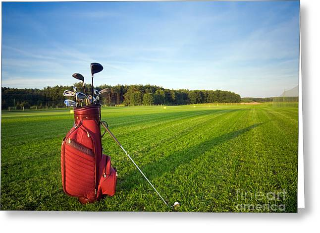 Golf Photographs Greeting Cards - Golf gear Greeting Card by Michal Bednarek