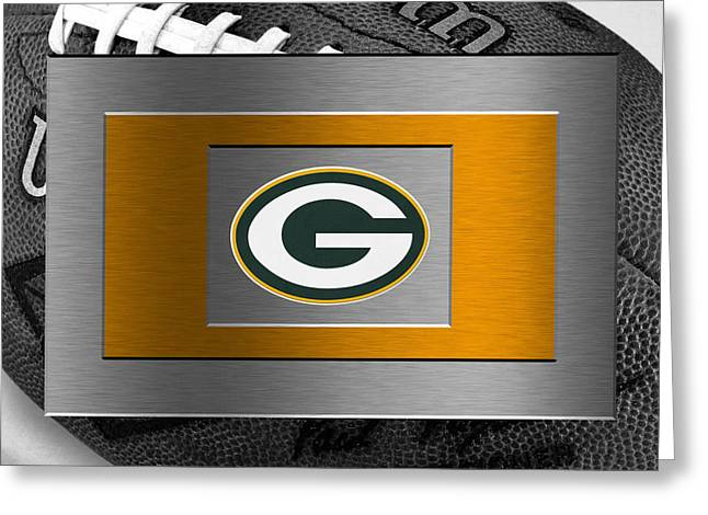 Offense Greeting Cards - Green Bay Packers Greeting Card by Joe Hamilton