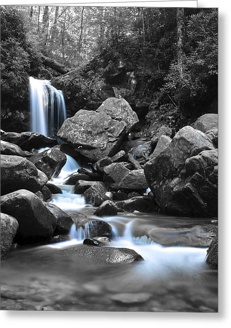 Mesmerizing Greeting Cards - Grotto Falls Greeting Card by Frozen in Time Fine Art Photography
