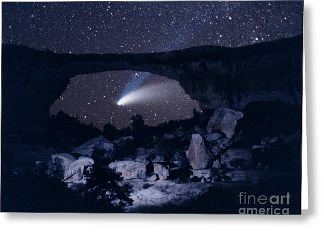 Hale-bopp Comet Greeting Cards - Hale-bopp Comet Greeting Card by John Chumack