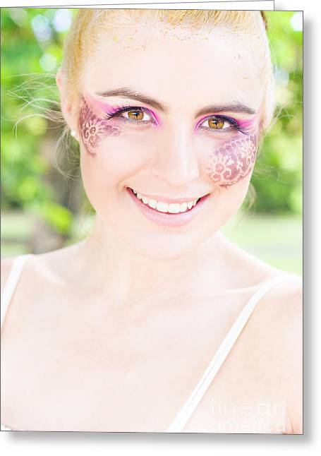 Artistic Portraiture Greeting Cards - Happiness Greeting Card by Ryan Jorgensen