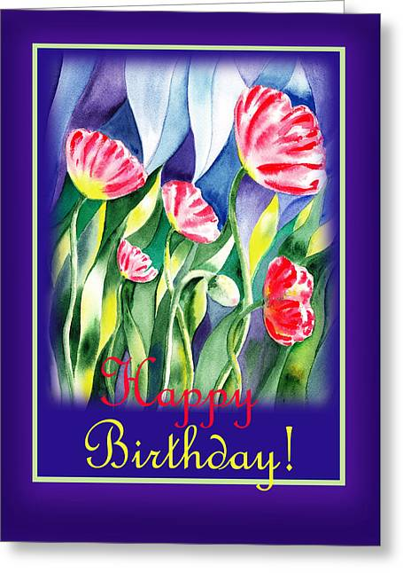 Landscape. Scenic Greeting Cards - Happy Birthday Greeting Card by Irina Sztukowski