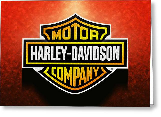 Personal Land Vehicle Greeting Cards - Harley Davidson Greeting Card by Stefano Senise