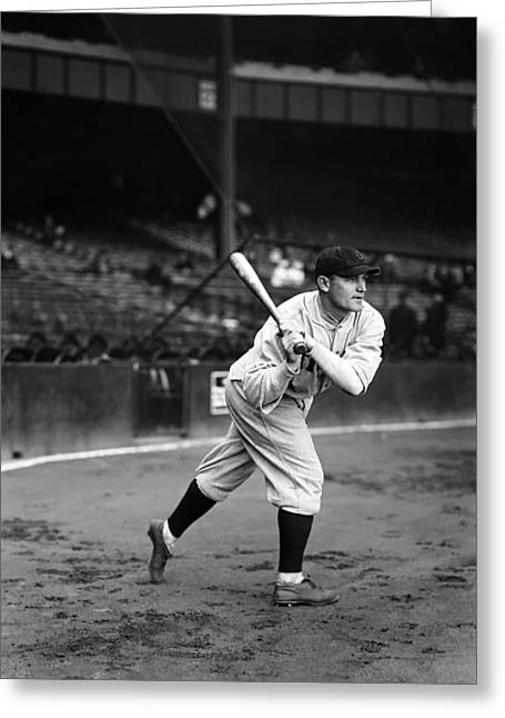 Baseball Bat Greeting Cards - Harry Rice Greeting Card by Retro Images Archive