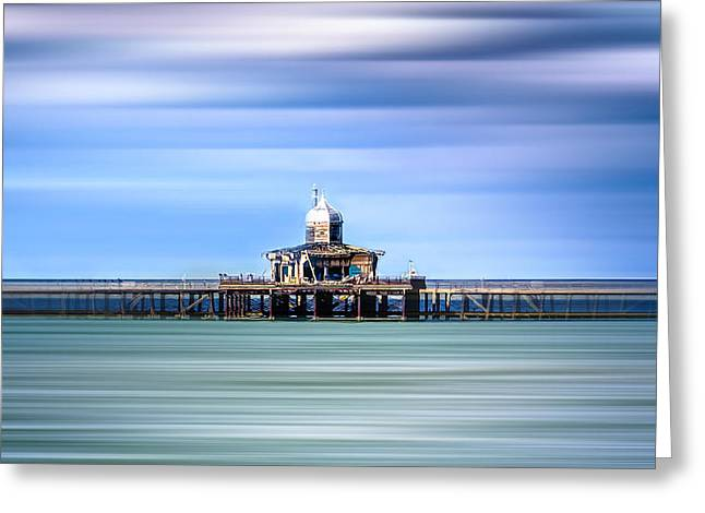 Estuary Greeting Cards - Herne Bay pier Greeting Card by Ian Hufton