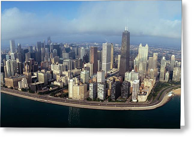 Lake Shore Drive Greeting Cards - High Angle View Of Buildings Greeting Card by Panoramic Images