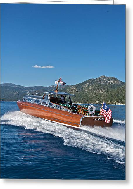 Mahogany Boat Greeting Cards - Holiday Image Sale Greeting Card by Steven Lapkin