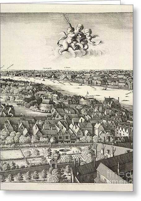 1907 Greeting Cards - Hollars Panorama Of London, 1647 Greeting Card by British Library