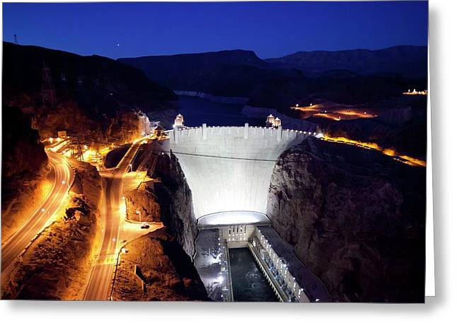 Hoover Dam Greeting Card by Jim West