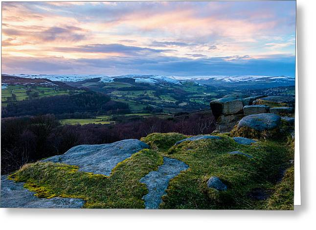 Mam Tor Greeting Cards - Hope Valley Derbyshire Greeting Card by Ollie Taylor