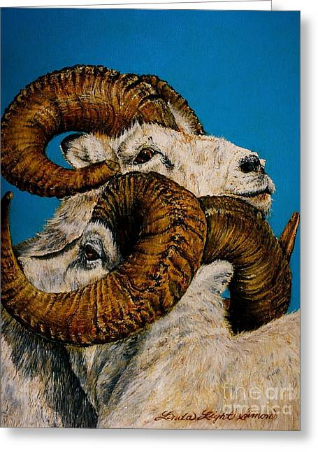 Horns Greeting Card by Linda Simon