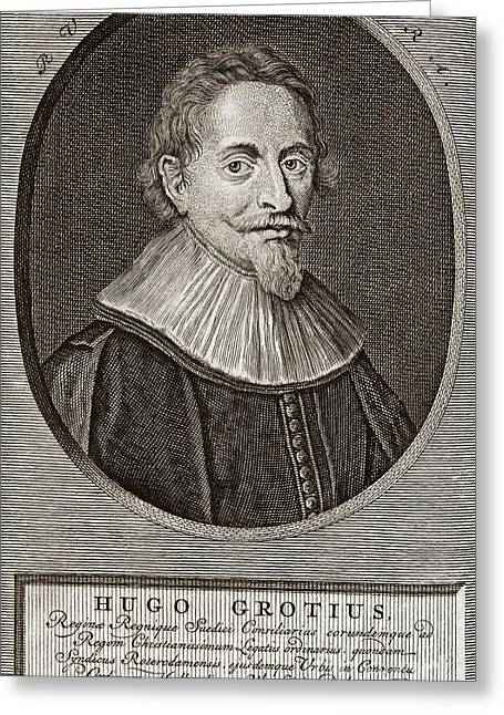 Just Right Greeting Cards - Hugo Grotius, Dutch Jurist Greeting Card by Middle Temple Library
