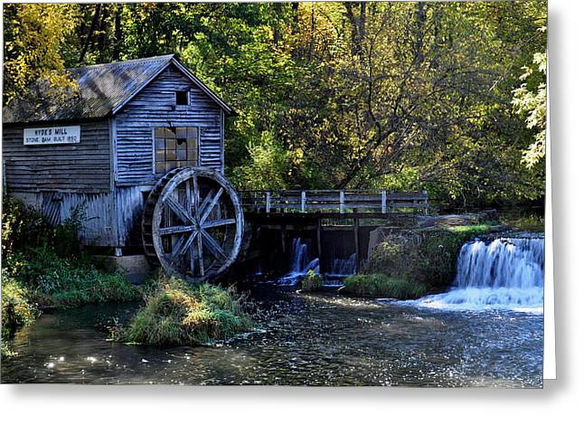 Tin Roof Greeting Cards - Hydes Mill Greeting Card by Larry Jones