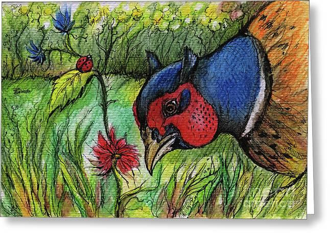 in my magic garden Greeting Card by Angel  Tarantella