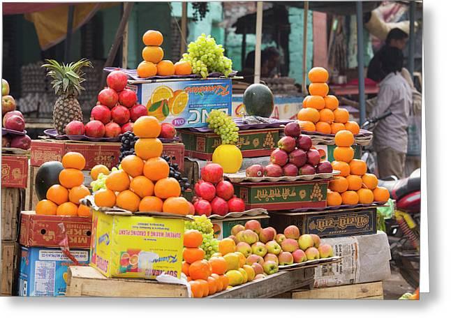 India, Uttar Pradesh, Varanasi Greeting Card by Emily Wilson