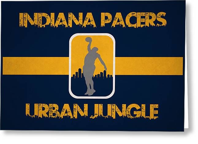 Dunk Greeting Cards - Indiana Pacers Greeting Card by Joe Hamilton