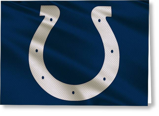 Colts Greeting Cards - Indianapolis Colts Uniform Greeting Card by Joe Hamilton