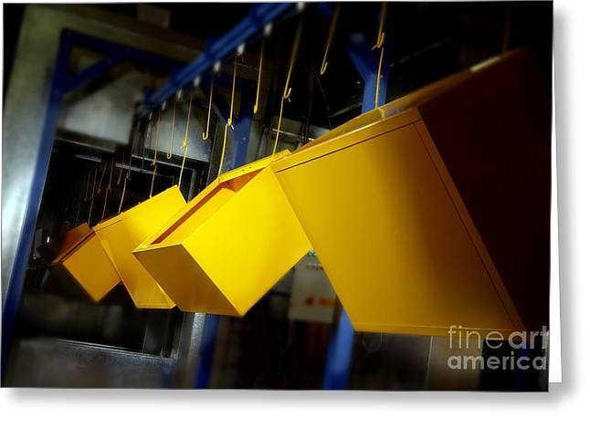 Anti Greeting Cards - Industrial Powder Coating Greeting Card by Mark Sykes