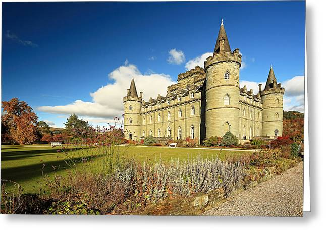 Scotland Scenery Greeting Cards - Inveraray Castle Greeting Card by Grant Glendinning