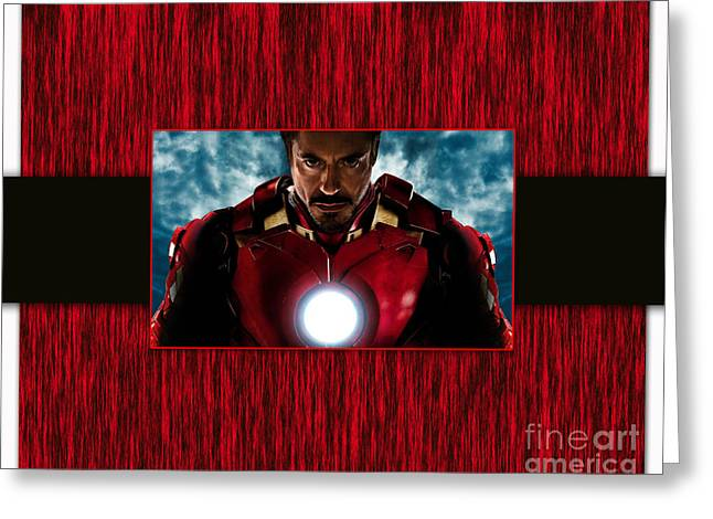 Comic Greeting Cards - Iron Man Greeting Card by Marvin Blaine
