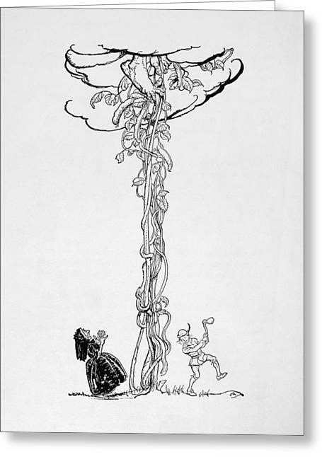 Jack And The Beanstalk Greeting Card by Granger