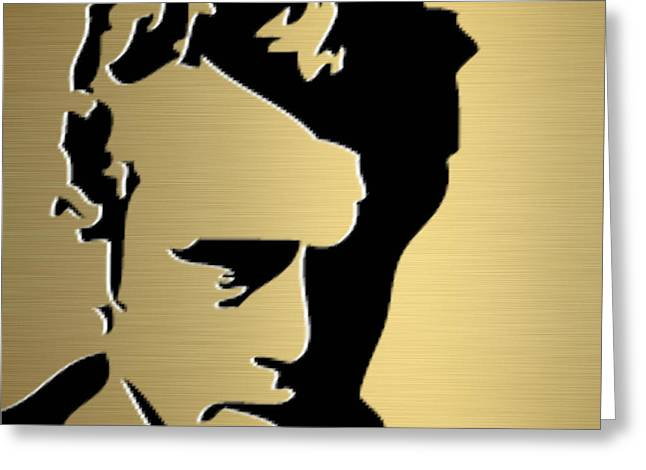 Retro Greeting Cards - James Dean Gold Series Greeting Card by Marvin Blaine