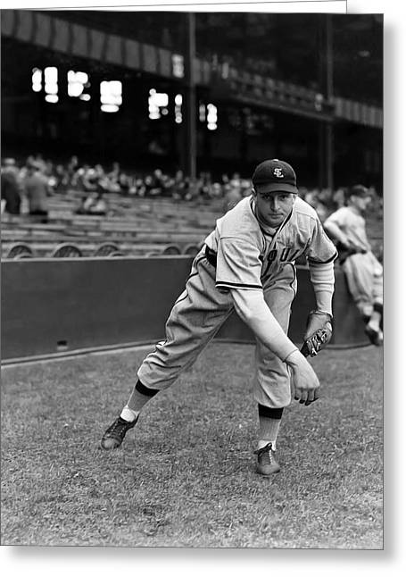 Baseball Uniform Greeting Cards - James E. Jim Walkup Greeting Card by Retro Images Archive