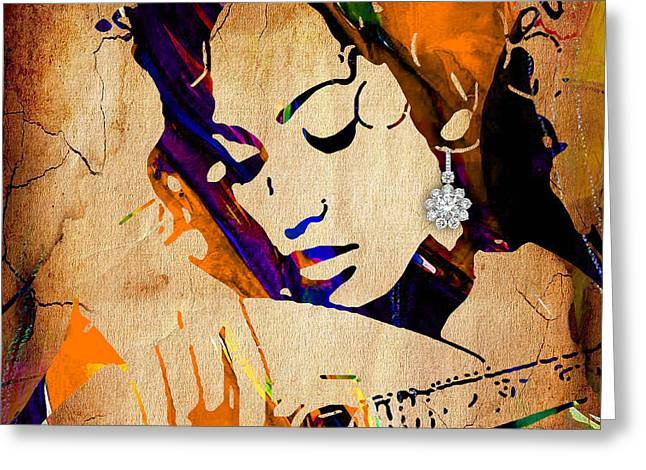 Pop Mixed Media Greeting Cards - Jennifer Lopez Collection Greeting Card by Marvin Blaine