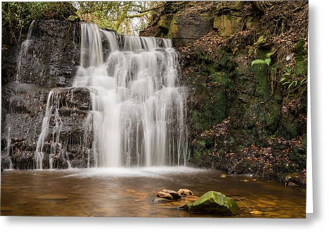 Winter Greeting Cards - Jepsons Clough Waterfall. Greeting Card by Daniel Kay