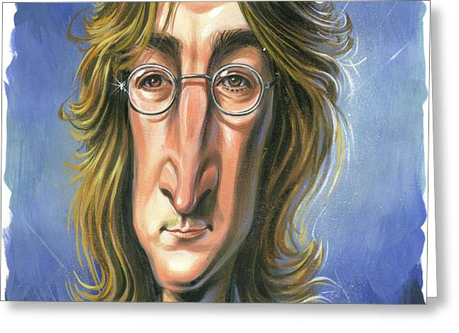John Lennon Greeting Card by Art