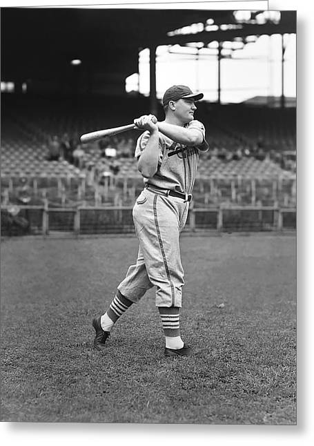 Baseball Bat Greeting Cards - John R. Johnny Mize Greeting Card by Retro Images Archive