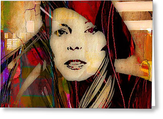 Joni Greeting Cards - Joni Mitchell Collection Greeting Card by Marvin Blaine