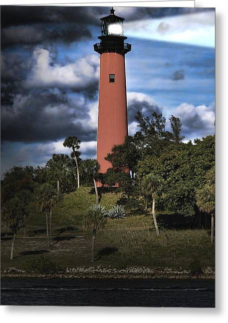 Optimism Greeting Cards - Jupiter lighthouse Greeting Card by Rudy Umans