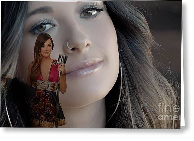 Country Greeting Cards - Kacey Musgraves Greeting Card by Marvin Blaine