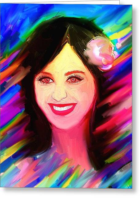 Top Model Greeting Cards - Katy Perry Greeting Card by Bogdan Floridana Oana