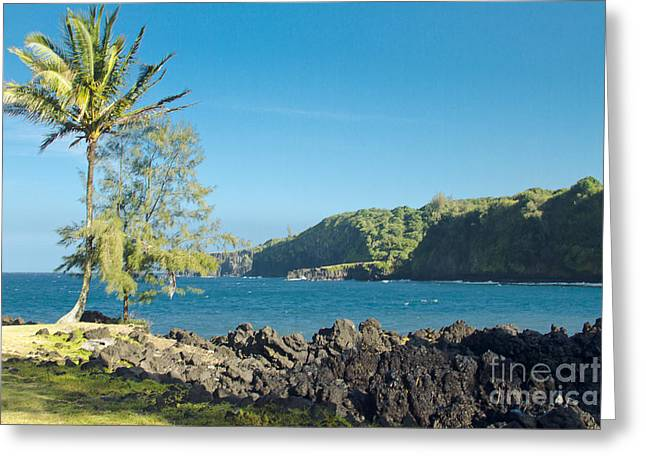 Niu Greeting Cards - Keanae Maui Hawaii Greeting Card by Sharon Mau