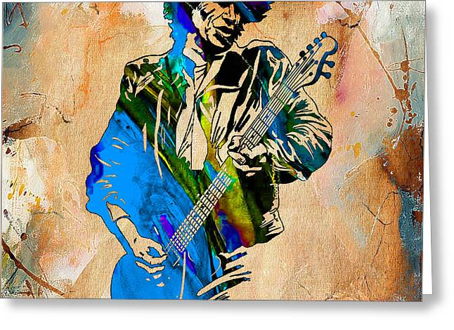 Keith Richards Collection Greeting Card by Marvin Blaine