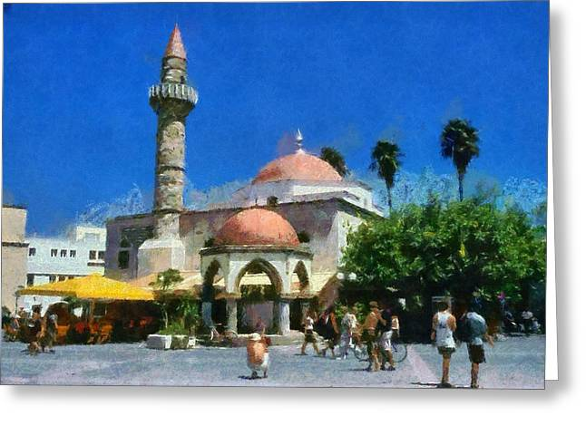 Dodekanissos Greeting Cards - City of Kos Greeting Card by George Atsametakis