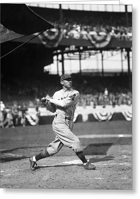 Baseball Bat Greeting Cards - Lance Richbourg Greeting Card by Retro Images Archive