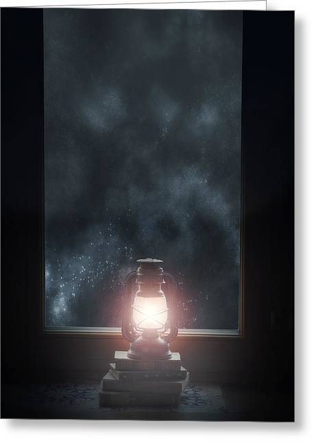 Night Lamp Greeting Cards - Lantern Greeting Card by Joana Kruse