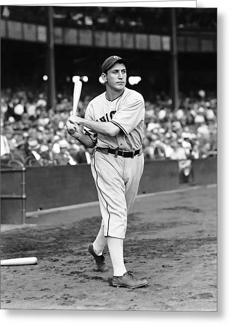 Baseball Bat Greeting Cards - Larry Rosenthal Greeting Card by Retro Images Archive