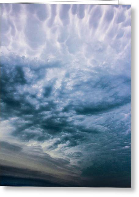 Weather Report Greeting Cards - Late August Nebraska Supercell Greeting Card by NebrasksaSC
