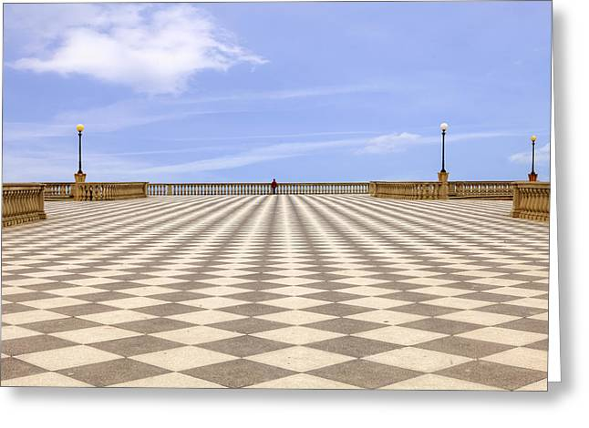 Checkerboard Greeting Cards - Livorno Greeting Card by Joana Kruse