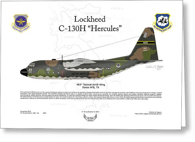 Arthur Eggers Greeting Cards - Lockheed C-130H Hercules Greeting Card by Arthur Eggers