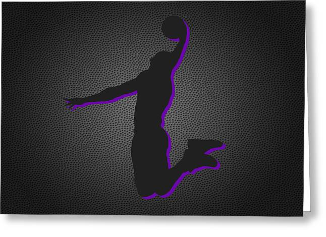 March Greeting Cards - Los Angeles Lakers Greeting Card by Joe Hamilton