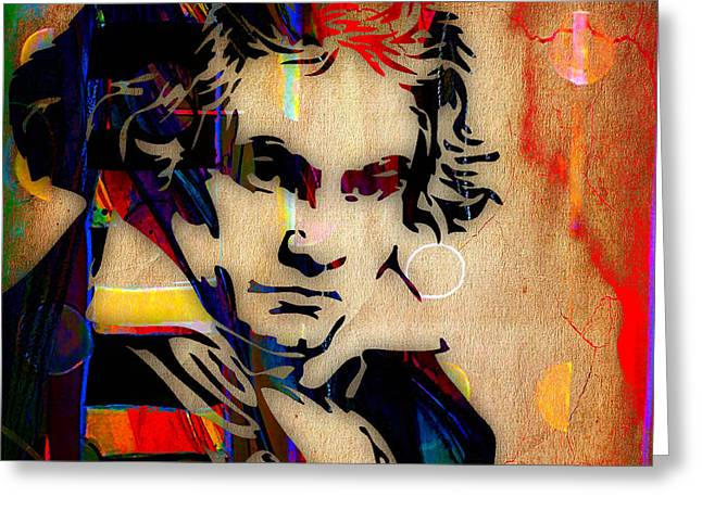 Classical Greeting Cards - Ludwig Van Beethoven Collection Greeting Card by Marvin Blaine