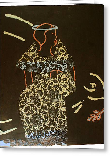 Ugandan Ceramicist Greeting Cards - Madonna and Child Greeting Card by Gloria Ssali