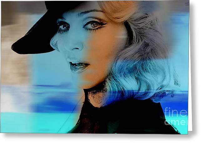 Icon Greeting Cards - Madonna Greeting Card by Marvin Blaine